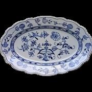 Blue Onion Pattern Oval Platter