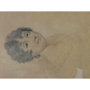 SOLD 19th George  Henry Harlow Watercolor Portaits
