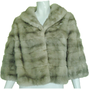 Vintage Holt Renfrew & Company Women's Gray/Silver Mink Jacket Short Coat