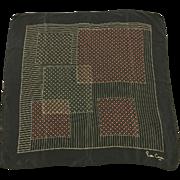 "Vintage Navy Blue Pierre Cardin Scarf 29.5"" Square"