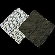 Vintage 100% Silk Men's Handkerchief Set