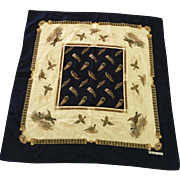 "Vintage Gina Ruccini Pheasant Scarf 30"" Square"