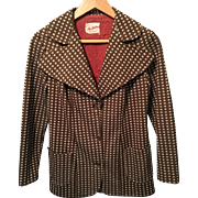 Vintage Alva Fashions Brown Polka Dot Jacket