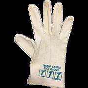 Vintage Trump Castle Slot Glove Atlantic City New Jersey