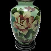Stunning Flower Decorated Japanese Plique-a-Jour Vase