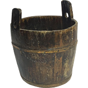 Primitive Wooden Handmade Water Bucket