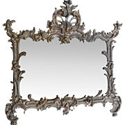 Gold Gilt French Rococco Style Cast Metal Table or Wall Mirror, or Picture Frame, with ...