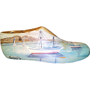 Old Wooden Hand Painted Shoe-Last