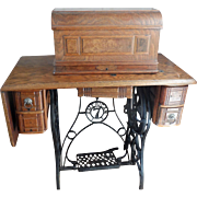 SALE Oak Sewing Machine Cabinet (ca) 1910