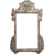 Large, Louis XVI Style Mirror with a Carved Pediment