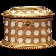 Charles X Gilt  and Mosaic Jewelry Box