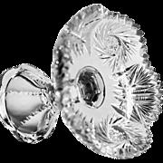 American Brilliant Period Cut Crystal Compote  ABP