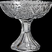 American Brilliant Cut Glass Compote