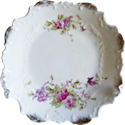 Dresden Porcelain Small Plates with gold gild scalloped edges and flowers
