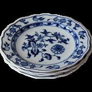 Meissen Blue Onion Salad Plates