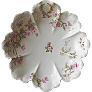 Haviland & Co. Limoges Pink Roses Oval Serving Bon Bon