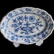 REDUCED Meissen Blue Onion Oval Serving Platter