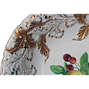 Beautiful Meissen Fruit Bowl Charger with gold leaves