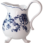 REDUCED Meissen Blue Onion Three Toed 8 oz Creamer with Cross Sword Mark