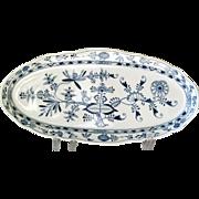 "Antique Meissen Blue Onion 22"" Fish Platter with crossed sword mark (SEIT1815)"