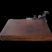 19th Century Cigar Cutting Board