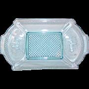 """SALE McKee Glass Co. Oval """"Pine Tree"""" Plate - Scarce"""