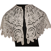 Victorian White Wide Embroidery Collar Lace