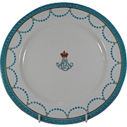 Minton Armorial Porcelain Prince Edward & Alexandria Royal Plate PRINCE WALES KING EDWARD VII