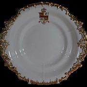 Copeland & Garrett Armorial Porcelain Plate MACDONALD Family Coat Arms Crest Clan SCOTLAND