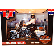 "SALE Hasbro GI Joe ELECTRA GLIDE HARLEY, No 3 in series Original Box, 12"" tall"