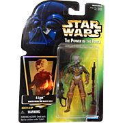 Star Wars The Power of The Force 4-Lom with Blaster Pistol  and Blaster Rifle