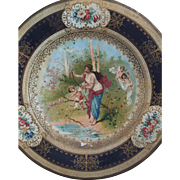 1900's Metal Vienna Art Plate