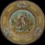 c.1900 Metal Vienna Art Plate