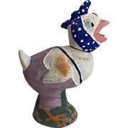 Vintage German Plaster Dressed Character Candy Container Chick... Adorable!!!