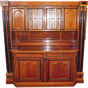 REDUCED Fantastic Early 20th Century High Quality Massive Biedermeier Style Mahogany Wall ...