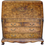 REDUCED Nice Grain Painted And Decorated Over-Sized Slant Top Desk c1990