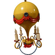 Italian Toll Chandelier French Hot Air Balloon Circa 1950's