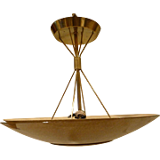 Post Mid Century Atomic Ceiling Fixture / Chandelier Manufactured by Lightolier Circa 1960's