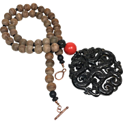 REDUCED Double Dragon Sandalwood Necklace