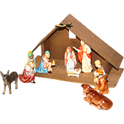 Goebel Hummel Nativity Scene Figurines Set plus Original Manger Star & Hay Series 6000 MINT