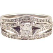 14k White Gold Diamond Engagement Set
