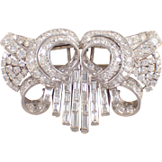 Retro Platinum Diamond French Depose Clips