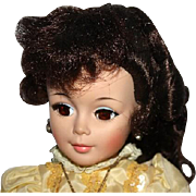 Madam Alexander  Doll in elegant yellow ball gown 20 Inches tall.