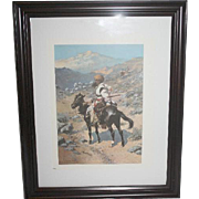 Frederick Remington Signed Print