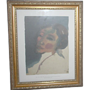 Head of a Woman by Emil Nolde Print