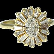 18K Yellow Diamond Ballerina Ring just Stunning