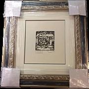 Othon Friesz Signed 1914 Limited Edition Wood Cut Print ENTRE DU CHATEAU 14/60