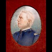 Antique Minature Of General John Adams Dix, Signed, Civil War General