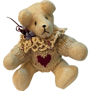 Handmade Collectible Bear with a big Heart
