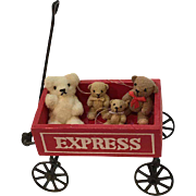 Collectible handmade Tiny Bears, arms and legs jointed